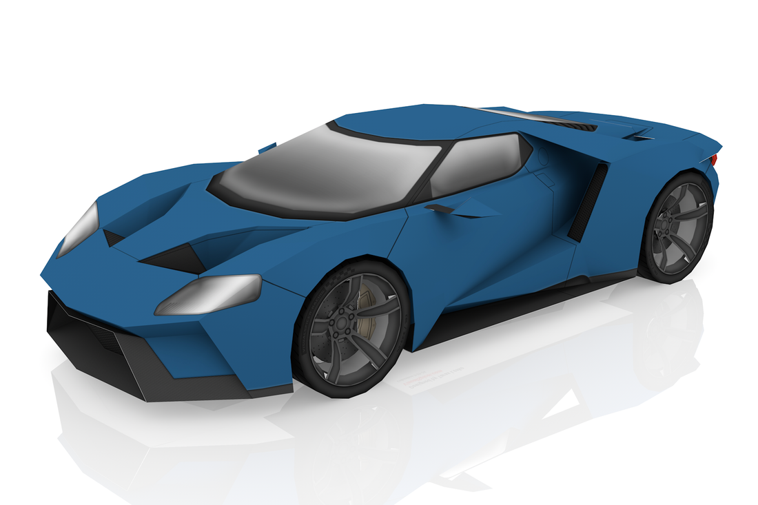 Ford GT papercraft model kit