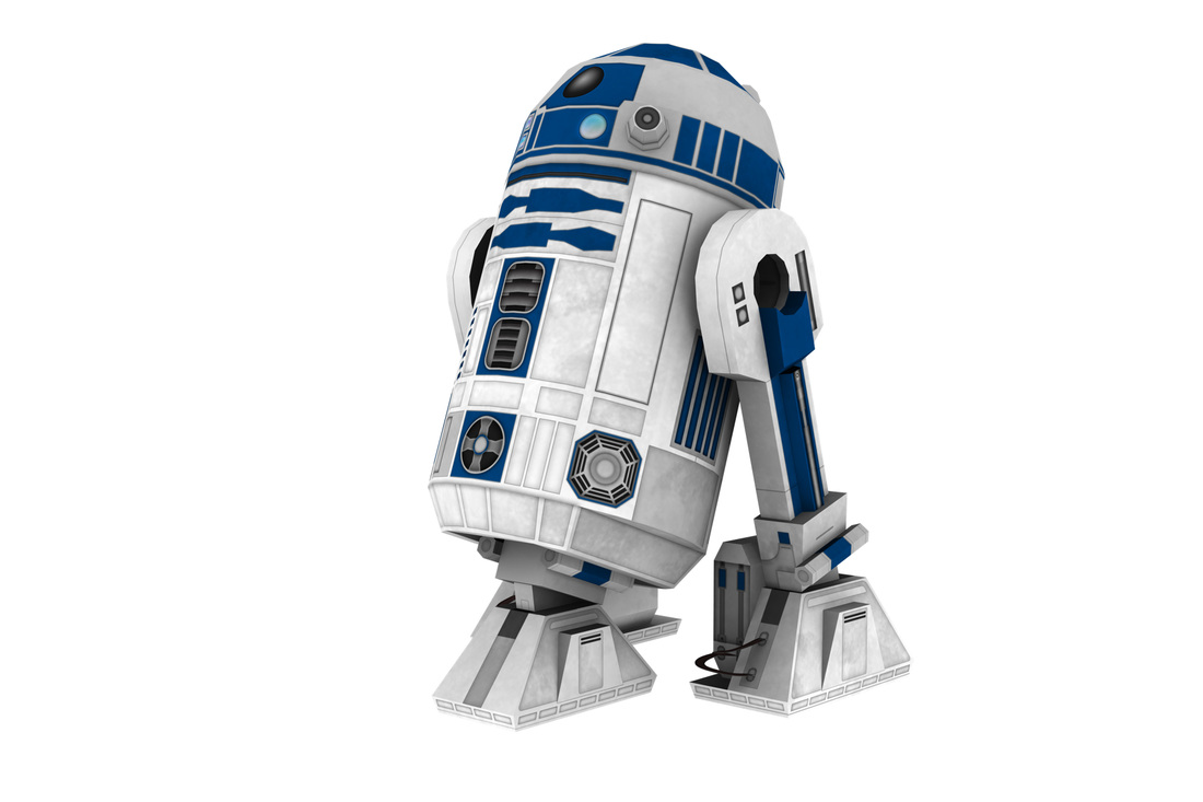 Star Wars R2D2 scale paper model kit