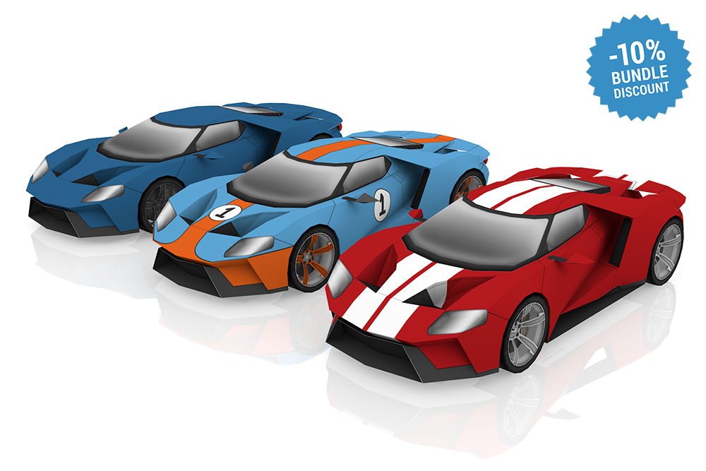 Ford GT inspired DIY paper model