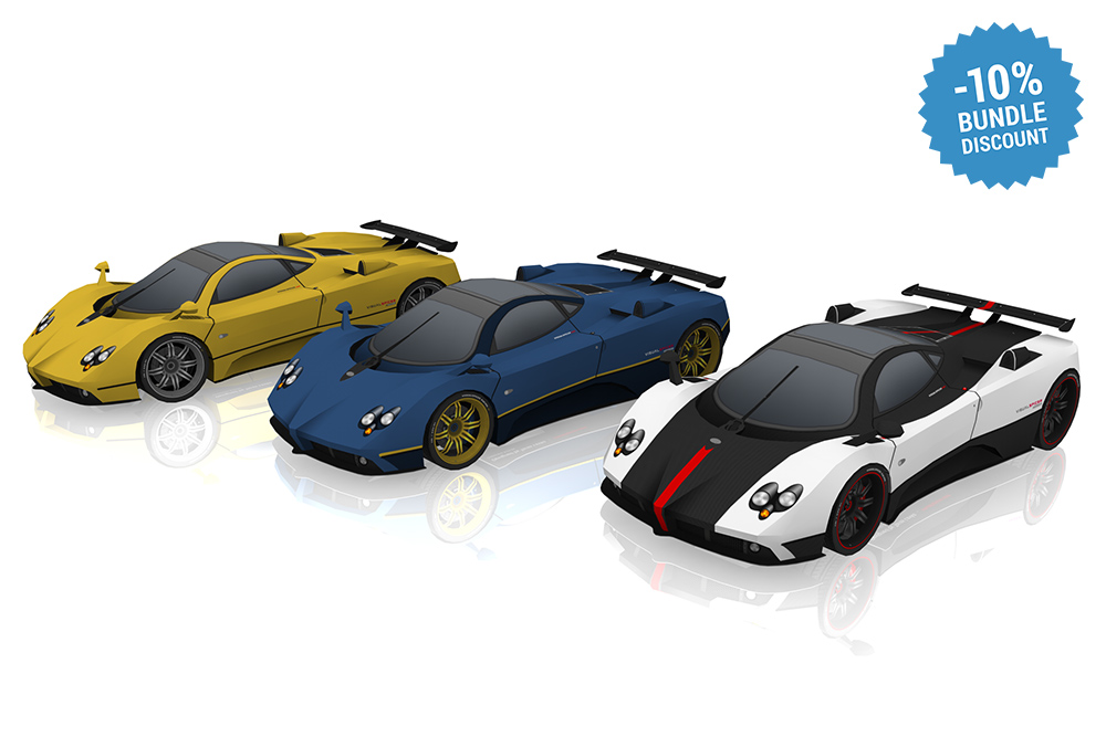 Pagani Zonda DIY paper model kit