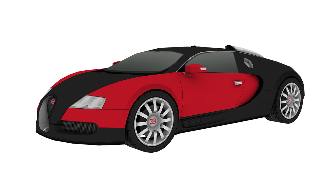 Bugatti Veyron DIY scale paper model kit