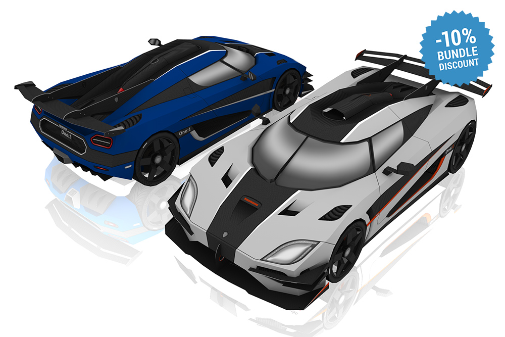 Koenigsegg DIY papercraft model kit