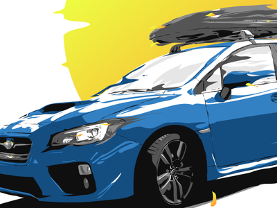 Subaru WRX digital illustration