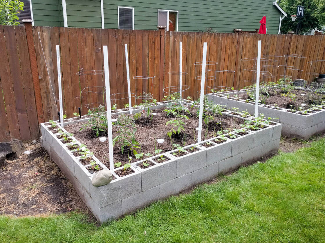 Support PVC poles for the garden bed canopy tops