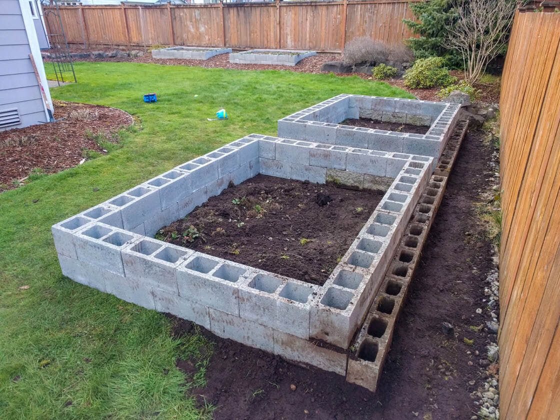 Cindor block raised beds completed