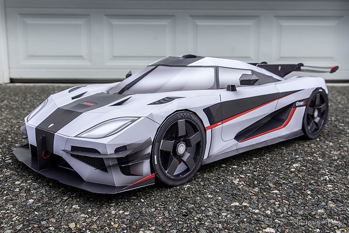 koenigsegg one 1 papercraft megacar. Black Bedroom Furniture Sets. Home Design Ideas