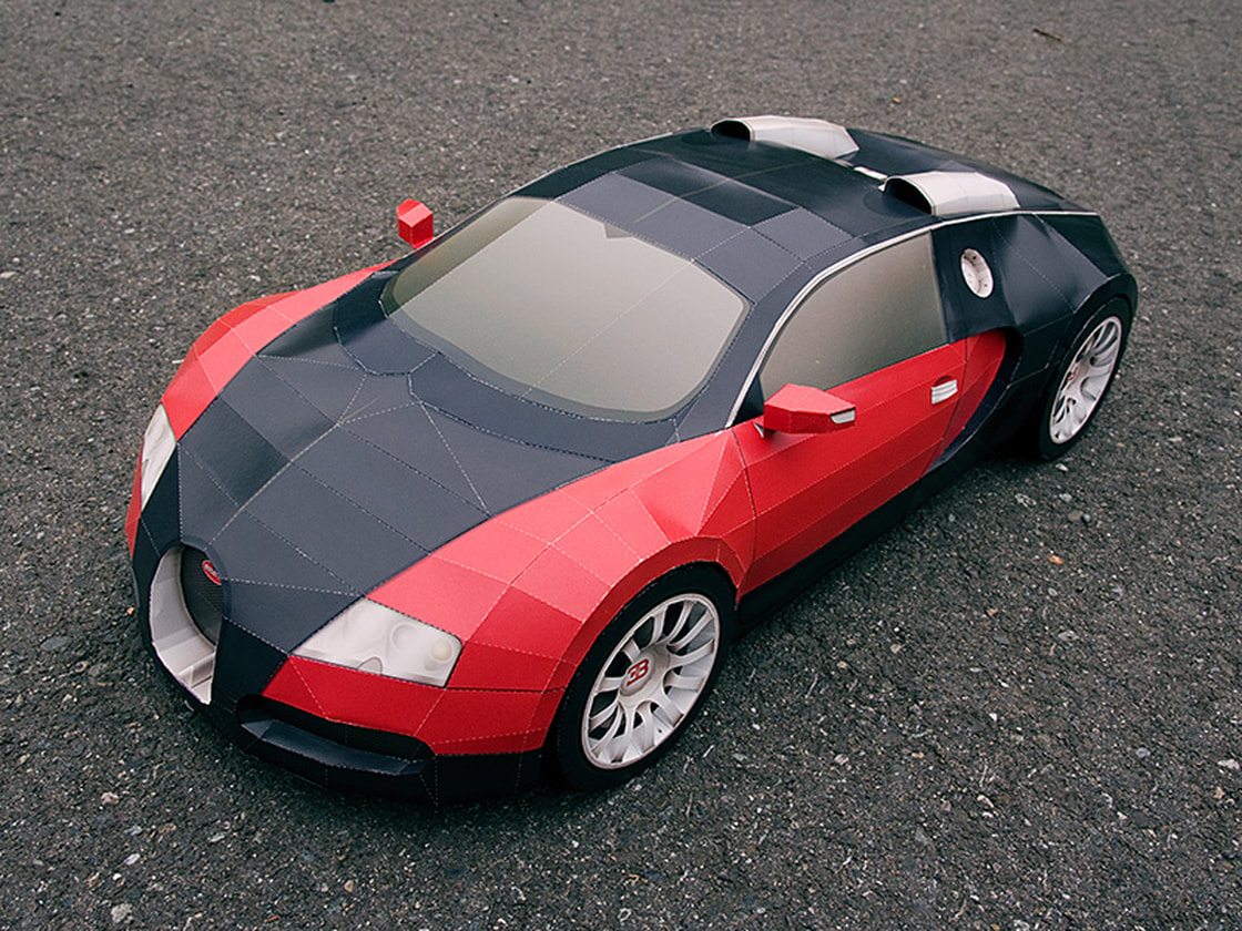 Bugatti Veyron DIY paper model kit