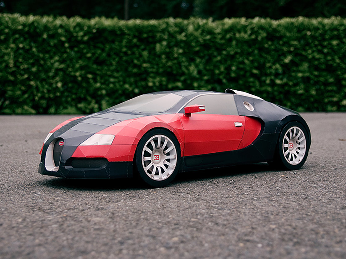 Bugatti Veyron papercraft model