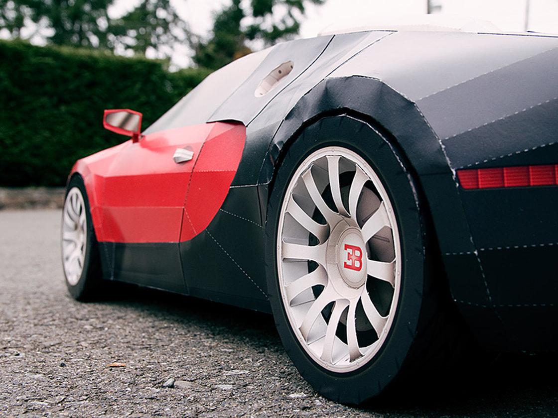 Bugatti Veyron Papercraft Supercar - VisualSpicer.com